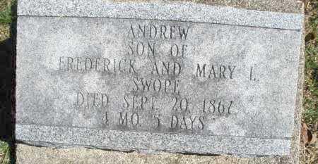 SWOPE, ANDREW - Montgomery County, Ohio   ANDREW SWOPE - Ohio Gravestone Photos