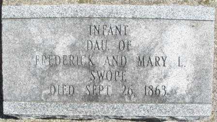 SWOPE, INFANT GIRL - Montgomery County, Ohio | INFANT GIRL SWOPE - Ohio Gravestone Photos