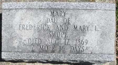 SWOPE, MARY - Montgomery County, Ohio | MARY SWOPE - Ohio Gravestone Photos