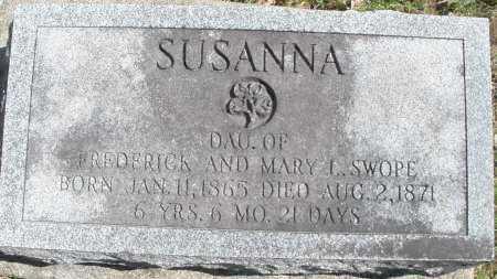 SWOPE, SUSANNA - Montgomery County, Ohio | SUSANNA SWOPE - Ohio Gravestone Photos