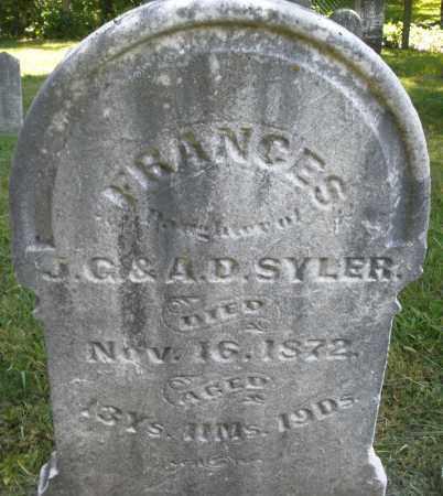 SYLER, FRANCES - Montgomery County, Ohio | FRANCES SYLER - Ohio Gravestone Photos