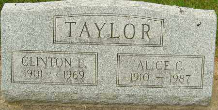 TAYLOR, ALICE C - Montgomery County, Ohio | ALICE C TAYLOR - Ohio Gravestone Photos