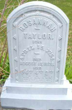 TAYLOR, ROSANNAH - Montgomery County, Ohio | ROSANNAH TAYLOR - Ohio Gravestone Photos