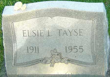 TAYSE, ELSIE L - Montgomery County, Ohio | ELSIE L TAYSE - Ohio Gravestone Photos