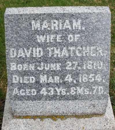 THATCHER, MARIAM - Montgomery County, Ohio | MARIAM THATCHER - Ohio Gravestone Photos