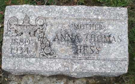 HESS THOMAS, ANNA - Montgomery County, Ohio | ANNA HESS THOMAS - Ohio Gravestone Photos