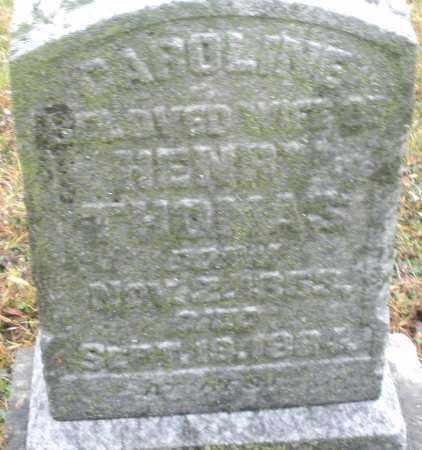 THOMAS, CAROLINE - Montgomery County, Ohio   CAROLINE THOMAS - Ohio Gravestone Photos