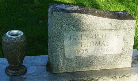 THOMAS, CATHARINE W - Montgomery County, Ohio | CATHARINE W THOMAS - Ohio Gravestone Photos