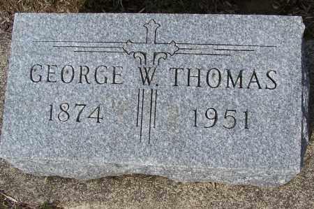 THOMAS, GEORGE W. - Montgomery County, Ohio | GEORGE W. THOMAS - Ohio Gravestone Photos