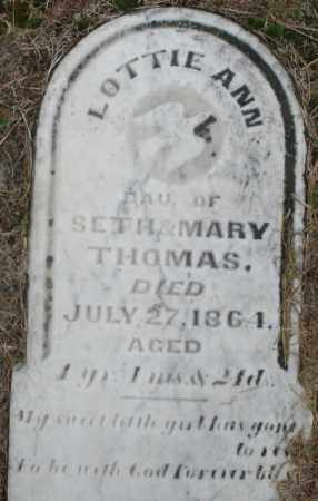 THOMAS, LOTTIE ANN - Montgomery County, Ohio | LOTTIE ANN THOMAS - Ohio Gravestone Photos