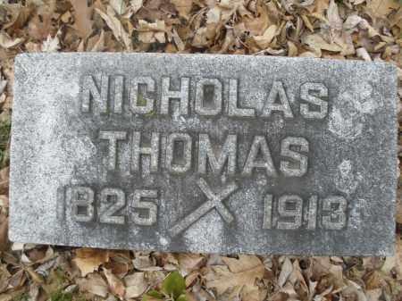 THOMAS, NICHOLAS - Montgomery County, Ohio   NICHOLAS THOMAS - Ohio Gravestone Photos