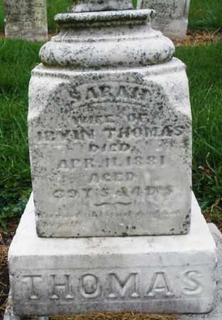 THOMAS, SARAH - Montgomery County, Ohio | SARAH THOMAS - Ohio Gravestone Photos