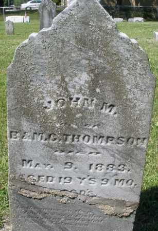 THOMPSON, JOHN M. - Montgomery County, Ohio | JOHN M. THOMPSON - Ohio Gravestone Photos