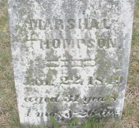 THOMPSON, MARSHAL - Montgomery County, Ohio   MARSHAL THOMPSON - Ohio Gravestone Photos