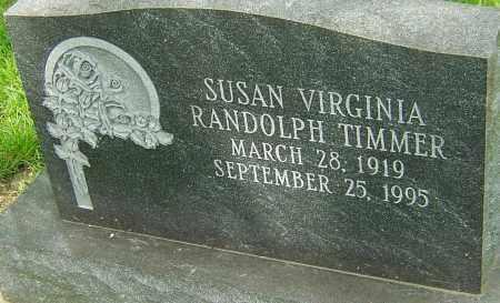 RANDOLPH TIMMER, SUSAN VIRGINIA - Montgomery County, Ohio | SUSAN VIRGINIA RANDOLPH TIMMER - Ohio Gravestone Photos