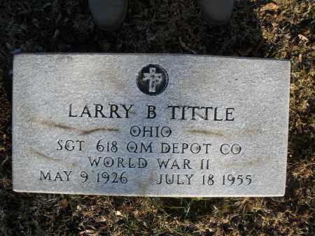 TITTLE, LARRY B. - Montgomery County, Ohio   LARRY B. TITTLE - Ohio Gravestone Photos