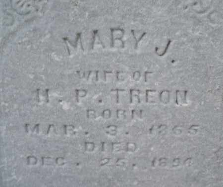 TREON, MARY J. - Montgomery County, Ohio | MARY J. TREON - Ohio Gravestone Photos