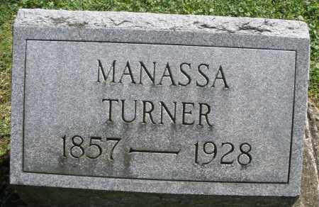TURNER, MANASSA - Montgomery County, Ohio | MANASSA TURNER - Ohio Gravestone Photos
