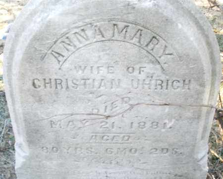 UHRICH, ANNA MARY - Montgomery County, Ohio | ANNA MARY UHRICH - Ohio Gravestone Photos