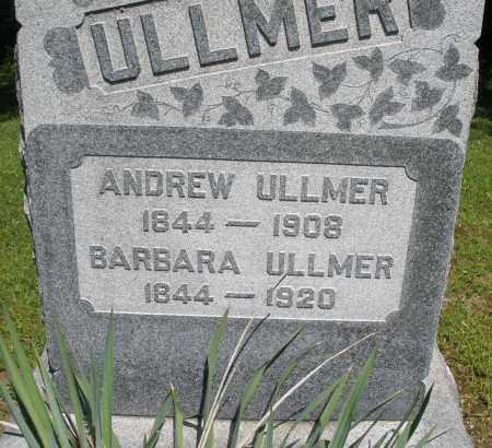 ULLMER, ANDREW - Montgomery County, Ohio   ANDREW ULLMER - Ohio Gravestone Photos