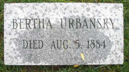 URBANSKY, BERTHA - Montgomery County, Ohio | BERTHA URBANSKY - Ohio Gravestone Photos