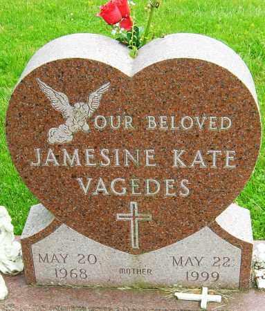 VAGEDES, JAMESINE KATE - Montgomery County, Ohio   JAMESINE KATE VAGEDES - Ohio Gravestone Photos