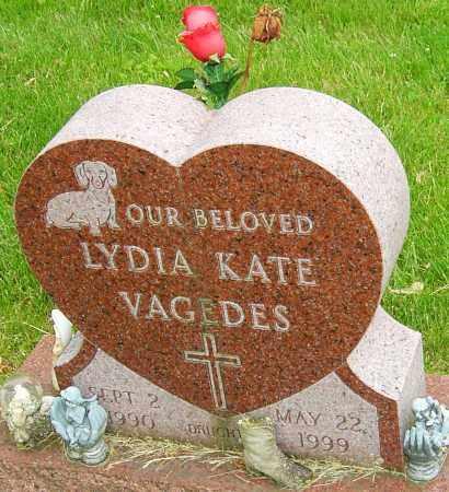 VAGEDES, LYDIA KATE - Montgomery County, Ohio   LYDIA KATE VAGEDES - Ohio Gravestone Photos
