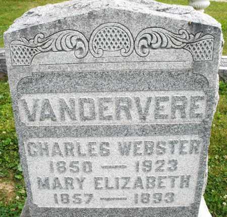 VANDERVERE, CHARLES WEBSTER - Montgomery County, Ohio | CHARLES WEBSTER VANDERVERE - Ohio Gravestone Photos