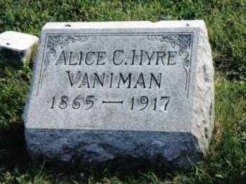 HYRE VANIMAN, ALICE C. - Montgomery County, Ohio | ALICE C. HYRE VANIMAN - Ohio Gravestone Photos