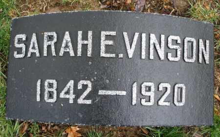 VINSON, SARAH E. - Montgomery County, Ohio | SARAH E. VINSON - Ohio Gravestone Photos