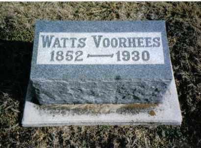 VOORHEES, WATTS - Montgomery County, Ohio | WATTS VOORHEES - Ohio Gravestone Photos