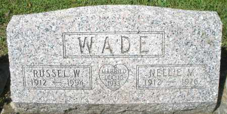WADE, NELLIE M. - Montgomery County, Ohio | NELLIE M. WADE - Ohio Gravestone Photos