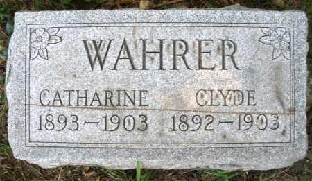 WAHRER, CLYDE - Montgomery County, Ohio | CLYDE WAHRER - Ohio Gravestone Photos
