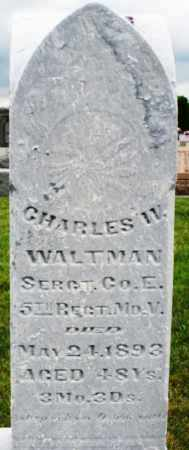 WALTMAN, CHARLES W. - Montgomery County, Ohio | CHARLES W. WALTMAN - Ohio Gravestone Photos