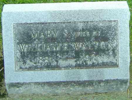 WALTON, MARY S - Montgomery County, Ohio | MARY S WALTON - Ohio Gravestone Photos
