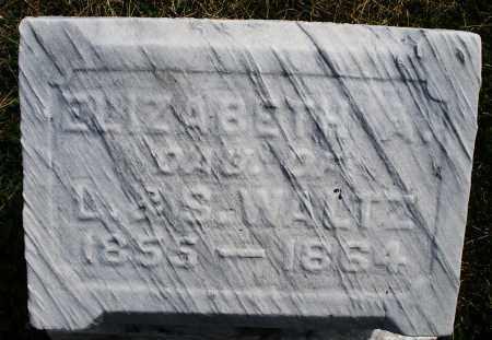 WALTZ, ELIZABETH A. - Montgomery County, Ohio   ELIZABETH A. WALTZ - Ohio Gravestone Photos