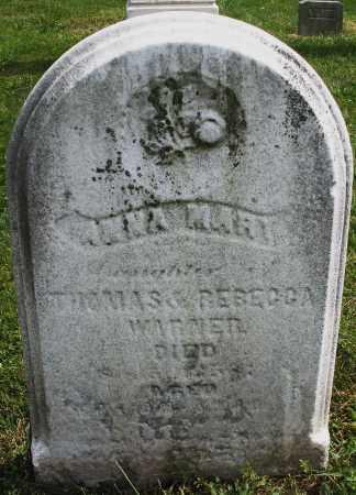 WARNER, ANNA MARY - Montgomery County, Ohio | ANNA MARY WARNER - Ohio Gravestone Photos