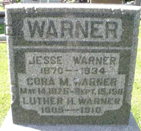 WARNER, CORA M. - Montgomery County, Ohio | CORA M. WARNER - Ohio Gravestone Photos