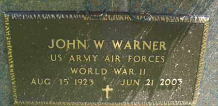 WARNER, JOHN W. - Montgomery County, Ohio | JOHN W. WARNER - Ohio Gravestone Photos