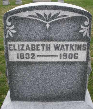 WATKINS, ELIZABETH - Montgomery County, Ohio   ELIZABETH WATKINS - Ohio Gravestone Photos