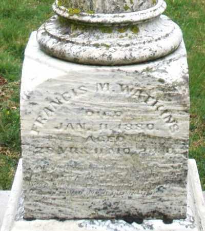 WATKINS, FRANCIS M. - Montgomery County, Ohio | FRANCIS M. WATKINS - Ohio Gravestone Photos