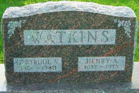 LUCAS WATKINS, GERTRUDE V - Montgomery County, Ohio | GERTRUDE V LUCAS WATKINS - Ohio Gravestone Photos