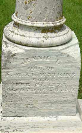 WATKINS, JENNIE L - Montgomery County, Ohio | JENNIE L WATKINS - Ohio Gravestone Photos