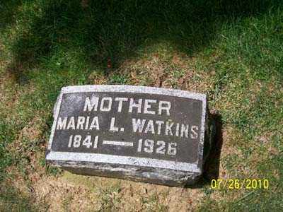 LAWSON WATKINS, MARIA L - Montgomery County, Ohio   MARIA L LAWSON WATKINS - Ohio Gravestone Photos