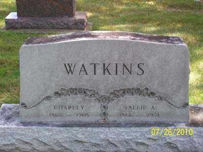 MULLEN WATKINS, SALLIE A - Montgomery County, Ohio | SALLIE A MULLEN WATKINS - Ohio Gravestone Photos