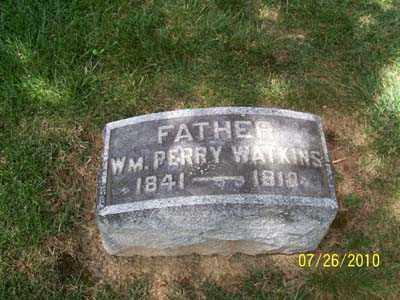 WATKINS, WILLIAM PERRY - Montgomery County, Ohio | WILLIAM PERRY WATKINS - Ohio Gravestone Photos