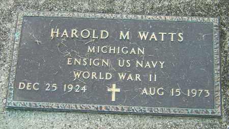 WATTS, HAROLD M - Montgomery County, Ohio | HAROLD M WATTS - Ohio Gravestone Photos