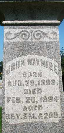 WAYMIRE, JOHN - Montgomery County, Ohio | JOHN WAYMIRE - Ohio Gravestone Photos