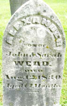 WEAD, ALEXANDER - Montgomery County, Ohio   ALEXANDER WEAD - Ohio Gravestone Photos