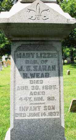 WEAD, MARY LIZZIE - Montgomery County, Ohio | MARY LIZZIE WEAD - Ohio Gravestone Photos
